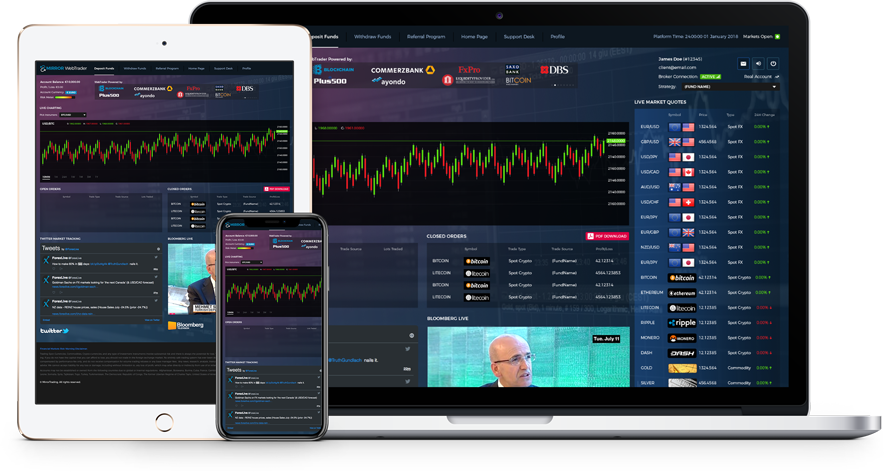 Devices on which you can watch your Trading Account Live: Computers, Tablets, Smartphones